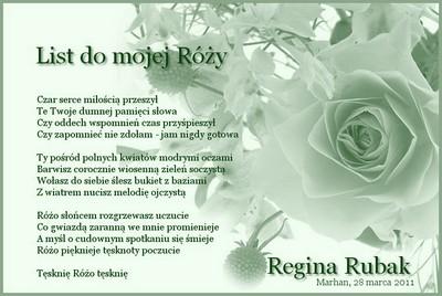 List Do Mojej Róży Marhan