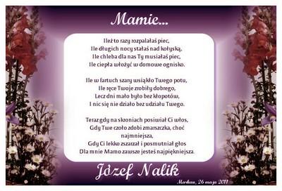 DZIEŃ MATKI - Mamie - Józef NALIK - Marhan