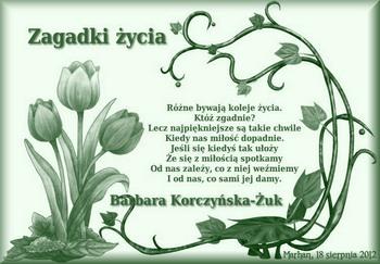 Barbara Korczyńska żuk Zagadki życia Marhan